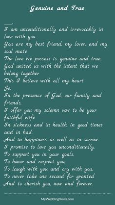 Super wedding vows that make you cry to husband marriage quotes ideas Romantic Wedding Vows, Best Wedding Vows, Funny Wedding Vows, Wedding Vows To Husband, Wedding Poems, Wedding Humor, Wedding Rustic, Fall Wedding, Wedding Stuff