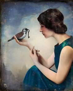 What an interesting painting... Christian Schloe 'The Key to Wonderland'