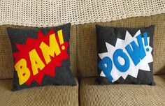 Perfect addition to a superhero room. @Lesley oman (think we'd be able to recreate some like this?)