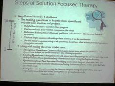 Solution Focused Therapy Powerpoint Presentation Part One.wmv