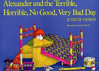 """My all-time favorite book for teaching text-to-self connections is """"Alexander and the Terrible, Horrible, No Good, Very Bad Day"""" by Judith Viorst. It's so easy for the kids to connect to the many events that put Alexander in a bad mood."""