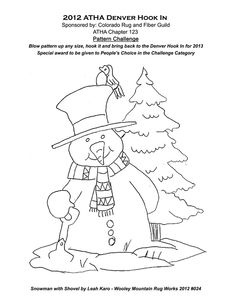 Free Snowman with tree pattern
