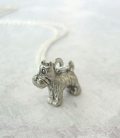 Tiny Silver Scottie Dog Charm Necklace   by lucindascharms on Etsy, $10.00