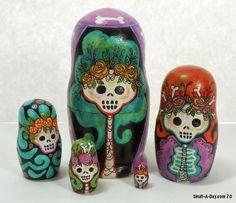 Skull-A-Day: Skelly Nesting Dolls