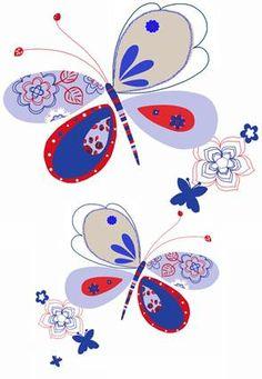 Fotobehang Cozz Kids Vlinder blauw - FotobehangFactory.nl