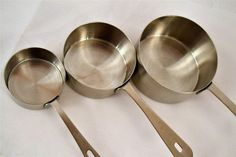 AMCO Chef Quality 18/8 Professional Stainless Steel Measuring Cups Missing 1/3 #Amco