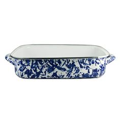 Cobalt Swirl Lasagna Pan