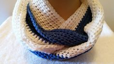 Infinity Scarf Cowl Crocheted Peruvian Merino Wool by softtotouch