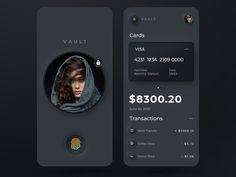 Dark Mode ⬛️ by Mark Vaira for mancanweb on Dribbble App Ui Design, Mobile App Design, Mobile Ui, Application Design, Mobile Application, Fitness Devices, Vaulting, Interactive Design, Light In The Dark