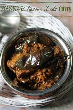 Brinjal with Sesame Seeds Masala Recipe / Eggplant