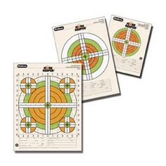 Champion Traps 45761 Score Keeper Fluorescent Targets Rifle Sight-in