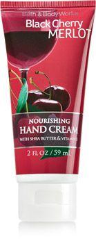 Black Cherry Merlot Nourishing Hand Cream - Soap/Sanitizer - Bath & Body Works