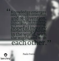 Discover and share Paulo Freire Quotes. Explore our collection of motivational and famous quotes by authors you know and love. Philosophy Of Education, Education Quotes, Paulo Freire Quotes, Powerful Motivational Quotes, Teaching Quotes, Political Quotes, In Writing, My Teacher, Famous Quotes