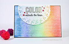 Watercolor card #Reverseconfetti #Catherinepooler.com #InTheMood