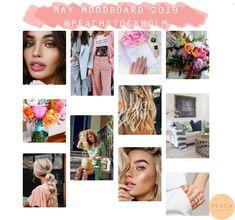 Sammanfattning av maj månads moodboard 2019 :) Mood Boards, Polaroid Film, Peach, Prunus, Peaches