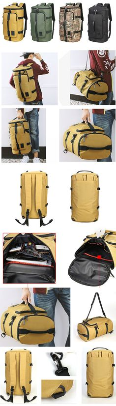 40L Big Capacity Travel Backpack Water Repellent Oxford Outdoor Bag For Men