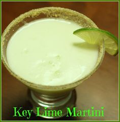 This Key Lime Martini recipe is like drinking a piece of Key Lime Pie. So yummy! KeKe Beach Key Lime liqueur is the key ingredient that makes this great!