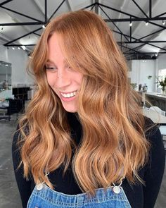 Ginger Hair Color, Strawberry Blonde Hair Color, Stawberry Blonde, Ginger Hair Dyed, Ginger Blonde Hair, Blonde Hair Looks, Blonde Hair Bangs, Copper Blonde Hair Color, Reddish Blonde Hair