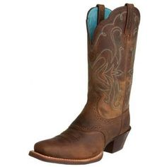 cowboy boots with blue liner by Ariat