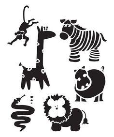 Loving this Wild Animals Stencil - Set of Three on #zulily! #zulilyfinds