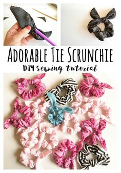 Sew a Cute Tie Scrunchie DIY Sewing Tutorial 2019 Fun and easy sewing project. The post Sew a Cute Tie Scrunchie DIY Sewing Tutorial 2019 appeared first on Sewing ideas. Easy Sewing Projects, Sewing Projects For Beginners, Sewing Hacks, Sewing Tutorials, Sewing Tips, Tutorial Sewing, No Sew Projects, Diy Quilting For Beginners, Scrap Fabric Projects