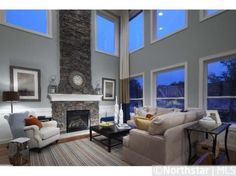 Love Love Love this 2 story living room