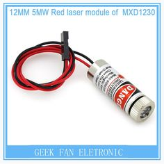 2pcs 12mm 5mw red line laser module