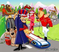 31 best wacky races images crazy cars cartoons classic cartoons