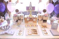 mesa dulce temática parís - mesa dulce maquillaje - mesa dulce paris