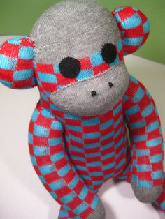 "Monkey made out of socks:) It is really funny, I got one  with "" dogs and hearts ""design from my Mum. I love it!"