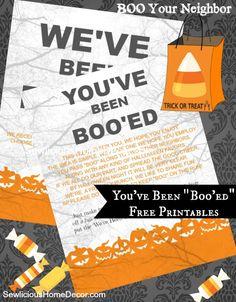 | BOO Your Neighbor-Instructions   Free Printables | http://sewlicioushomedecor.com