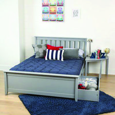 Brayden Studio Gautreau Twin Bunk Bed over Full XL Sofa Bed, Table and Trundle Bunk Bed With Trundle, Full Bunk Beds, Kid Beds, Platform Bed With Drawers, Full Platform Bed, Xl Sofa, Sofa Bed, Under Bed Storage Boxes, Grey Bedding
