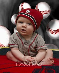 St Louis Cardinal Baseball Fan -- oh my word!! How adorable! Wish I had a cute pic of my son in a cards outfit.