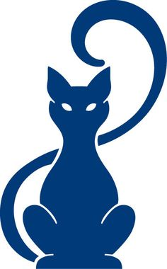 Abstract Cats Sitting vinyl decal