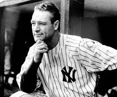 Died of ALS aka Lou Gehrig's disease. Of all the players in baseball history, none possessed as much talent and humility as Lou Gehrig. His accomplishments on the field made him an authentic American hero, and his tragic early death made him a legend But Football, Sports Baseball, Baseball Players, Angels Baseball, Baseball Quotes, Cubs Baseball, Dodgers Baseball, Baseball Stuff, Baseball Cards