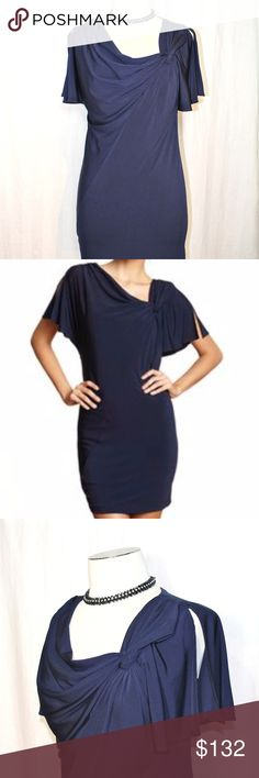 ★NWT★MUSE Navy Midi Flutter-Sleeve Dress NWT★You'll feel like a goddess in this MUSE Navy Knot-Shoulder Split Flutter-Sleeve Dress  Beautiful & sophisticated!  Flattering lines. Perfect for a glamorous date night, wedding, prom/special event. Looks great with chain belt. Fully Lined. Shell 95% polyester, 5% Spandex ;  Lining 100% Poly ——PRICE FIRM. NO FURTHER REDUCTIONS.——  ★ Pair with beautiful accessories, shoes & bags in my closet! ——NWOT Necklace & Bracelet shown are available. Contact…