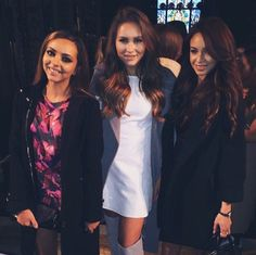 Danielle Peazer | sarahhashcroft: With @dcp1006 and @jadeameliabadwi before the Felder Felder show earlier  #dancer #modle #friends #idle #lane #idlelane #lfw #london #fashion #week #little #mix #jade #thirlwall