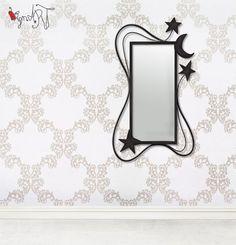 Espejo de forja artística