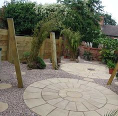 Paula & Andy Love's fencing and hammock project with railway sleepers