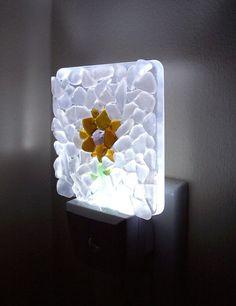Mosaic Night Light Sea Glass Night Light LED Night Light