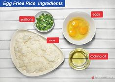 Egg Fried Rice: How to Make Easy Egg Fried Rice. - trychinesegoodies.com Rice Ingredients, Veggie Stir Fry, Serving Platters, Rice Recipes, The Fresh, Fried Rice, Make It Simple, Cooker, Fries