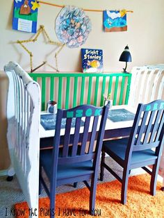 Crib turned craft table.