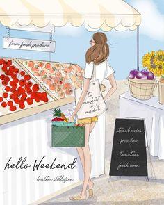 Hello Weekend! Enjoy this first weekend of Summer! #heatherstillufsen #hssummerbucketlist #summertime #illustration #heatherstillufsenart…