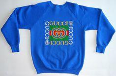 Vtg GUCCI Designer Logo Sweatshirt Crewneck Hip Hop Swag Tisa | eBay