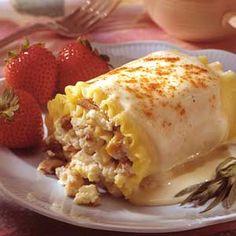 White lasagna with chicken