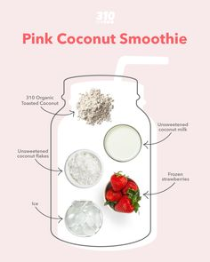 Five ingredients and five minutes (or less!) is all you need to make this delicious and vegan-friendly Pink Coconut Smoothie!