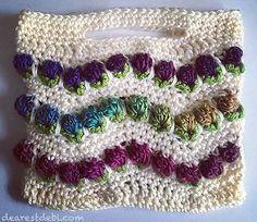 Chevron Flower Ripple Hand Bag pattern by Debi Dearest