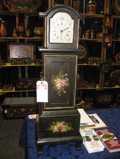 John Dunn Signed Original John Dunn, Clock Painting, Art Festival, Clocks, Painted Furniture, Folk Art, Popular Art, Watches