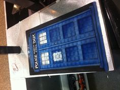 Airbrush Dr. Who TARDIS doormat.