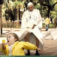 haha :D pope and bubble girl